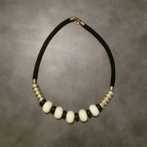 Loft chunky beaded statement necklace
